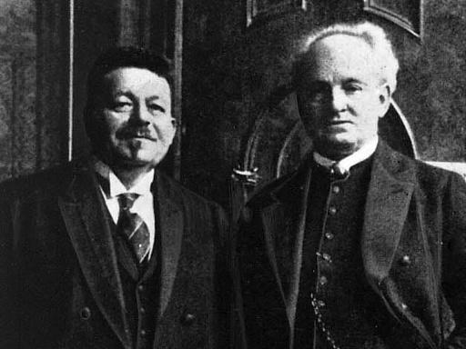 Friedrich Ebert und Gerhart Hauptmann