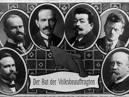 Porträts Mitglieder Rat der Volksbeauftragten