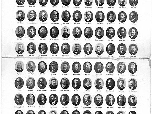 Porträts Sozialdemokratische Reichstagsfraktion 1912