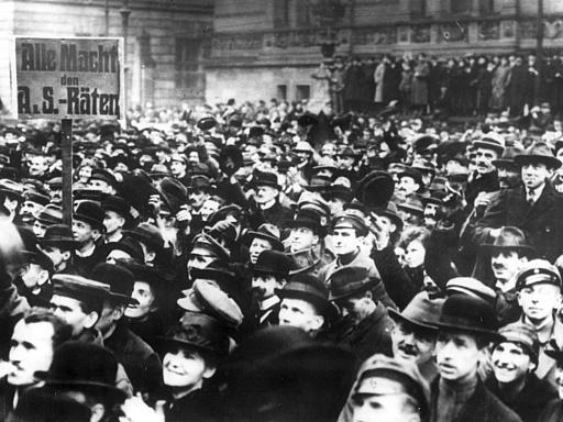 Spartakistendemonstration in Berlin